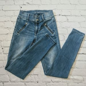 NY and Co Skinny jeans with zipper detail